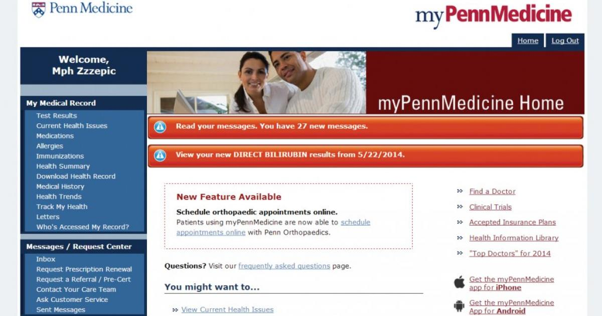Providing Peace of Mind with Online Patient Portals